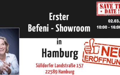 Erster Befeni Showroom in Hamburg