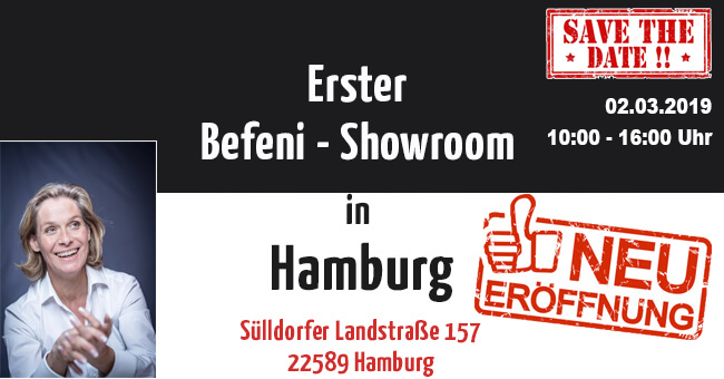Erster Befeni Showroom in Hamburg